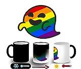 MERCHANDMANIA Taza MÁGICA GAYSPER Fantasma Gay VOX Magic mug