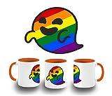 MERCHANDMANIA Taza Naranja GAYSPER Fantasma Gay VOX Color mug