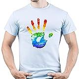 EUGINE DREAM LGBT Flag Gay Pride Camiseta para Hombre Azul Claro XXL