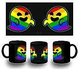 MERCHANDMANIA Taza Completamente Negra GAYSPER Fantasma Gay VOX Black mug