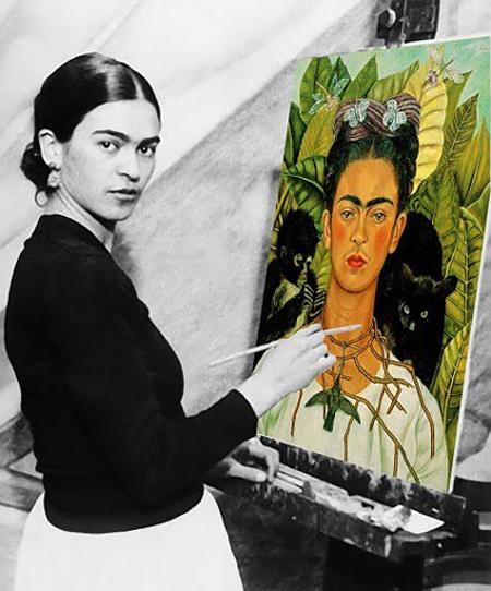 Autorretrato con collar de espinas y colibrí - Frida Kahlo